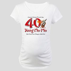 Yung No Mo 40th Birthday Maternity T-Shirt