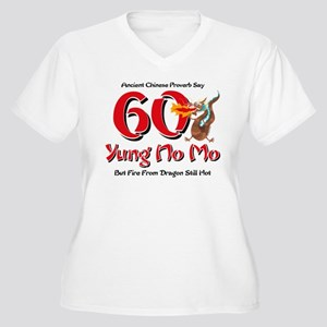 Yung No Mo 60th Birthday Women's Plus Size V-Neck