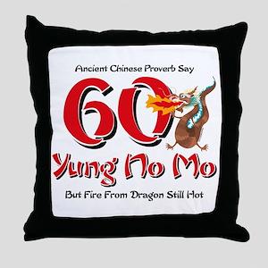 Yung No Mo 60th Birthday Throw Pillow