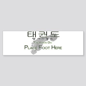 Sticker (Bumper) Tae Kwon Do Place Foot Here