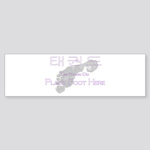 Tae Kwon Do Place Foot Here Sticker (Bumper)