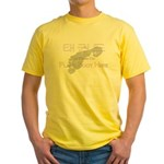 Tae Kwon Do Place Foot Here Yellow T-Shirt