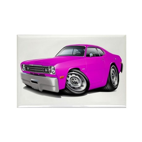 Duster Pink Car Rectangle Magnet