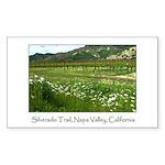 wine country silverado trail Sticker (Rectangular
