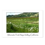 wine country silverado trail Postcards (Package o