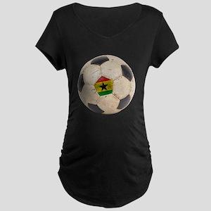 Ghana Football Maternity Dark T-Shirt