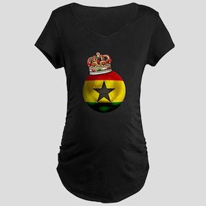 Ghana Football Champion Maternity Dark T-Shirt