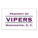 Property Of Vipers Sticker