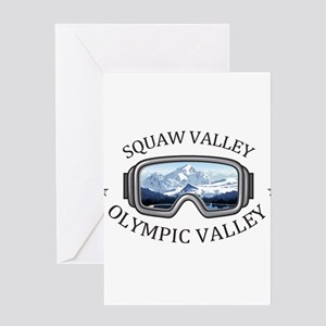 Squaw Valley - Olympic Valley - C Greeting Cards