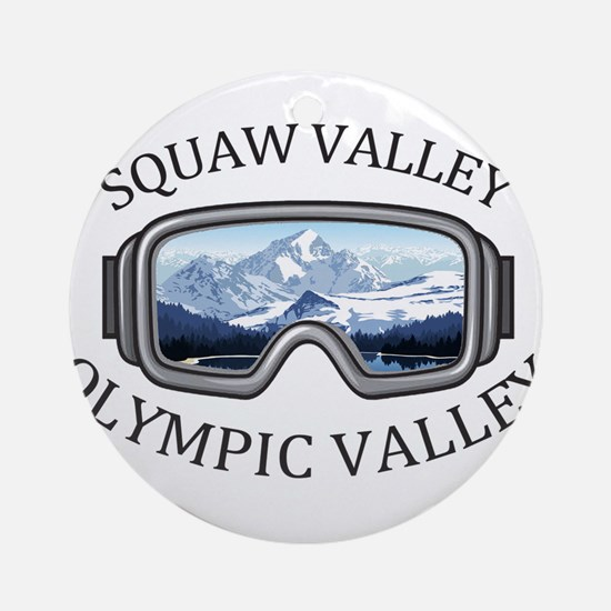Squaw Valley - Olympic Valley - C Round Ornament
