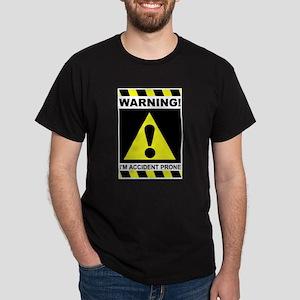 Accident Prone Black T-Shirt