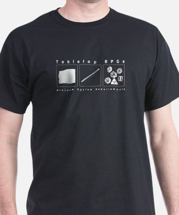 Tabletop RPG Black T-Shirt
