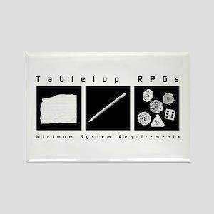Tabletop RPG Rectangle Magnet