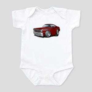 Duster Maroon-Black Car Infant Bodysuit