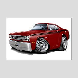 Duster Maroon-Black Car Mini Poster Print
