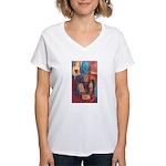 Chess Art Women's V-Neck T-Shirt