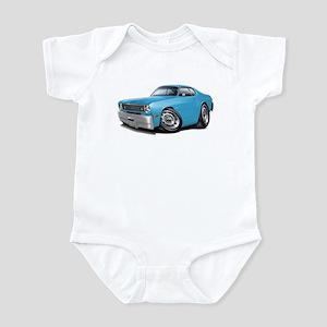 Duster Lt Blue-Black Car Infant Bodysuit