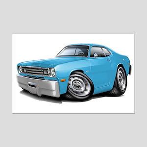 Duster Lt Blue-Black Car Mini Poster Print