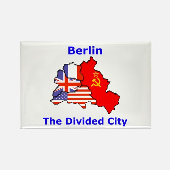 Berlin: The Divided City Rectangle Magnet