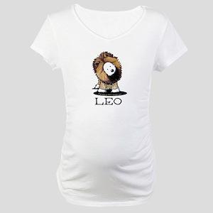 LEO Lion Westie Maternity T-Shirt