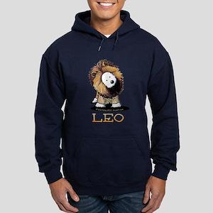 LEO Lion Westie Hoodie (dark)