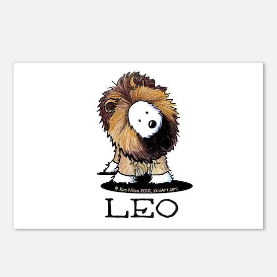 LEO Lion Westie Postcards (Package of 8)