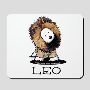 LEO Lion Westie Mousepad