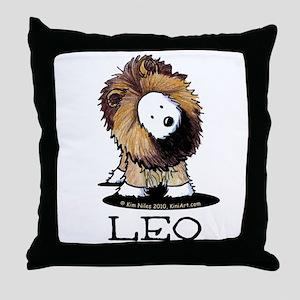 LEO Lion Westie Throw Pillow