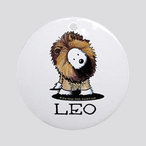 LEO Lion Westie Ornament (Round)