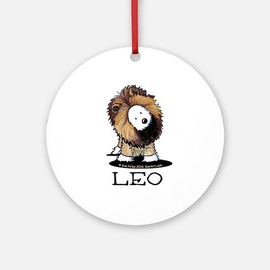 LEO Lion Westie Ornament (Round)