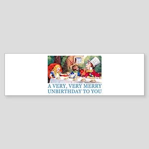 A VERY MERRY UNBIRTHDAY Sticker (Bumper)