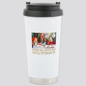 WE'RE ALL QUITE MAD Stainless Steel Travel Mug