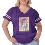 young love Women's Plus Size Football T-Shirt