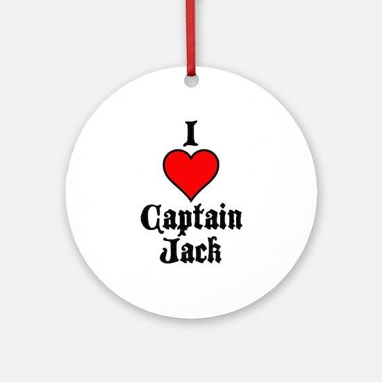 I Heart Captain Jack Ornament (Round)