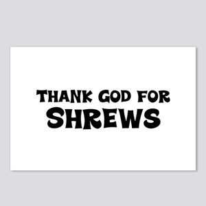 Thank God For Shrews Postcards (Package of 8)