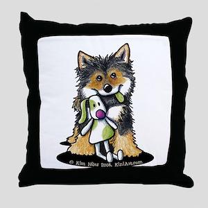 Tri-Color Shiba Inu Throw Pillow