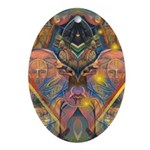 African Mysticism Oval Ornament