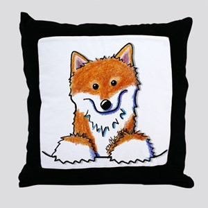 Pocket Shiba Inu Throw Pillow