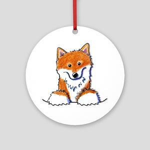 Pocket Shiba Inu Ornament (Round)