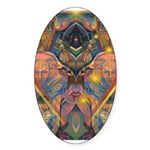 African Mysticism Oval Sticker