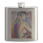 Life Drawing bust Flask