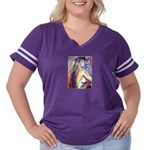 Life Drawing bust Women's Plus Size Football T-Shi