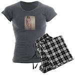 Life Drawing PinUp girl Women's Charcoal Pajamas