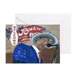 Blues Singer Note Cards