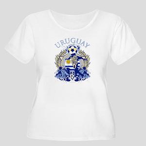 Uruguay Soccer Women's Plus Size Scoop Neck T-Shir