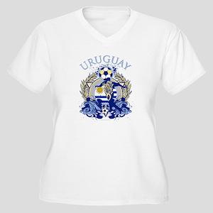 Uruguay Soccer Women's Plus Size V-Neck T-Shirt