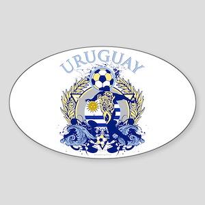 Uruguay Soccer Sticker (Oval)
