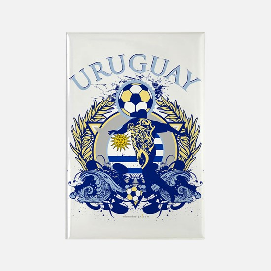 Uruguay Soccer Rectangle Magnet