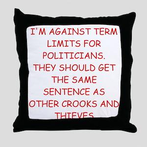 anti congress joke Throw Pillow