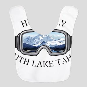 Heavenly Ski Resort - South L Polyester Baby Bib